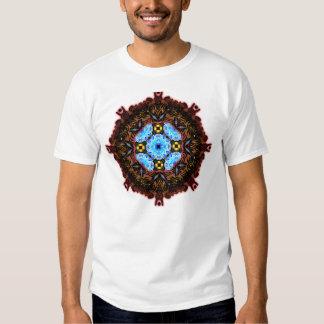 Neo Flower Pattern Big Inverted Tee Shirts