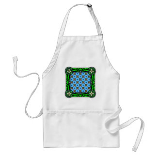 Neo Flower Pattern Small Inverted Adult Apron