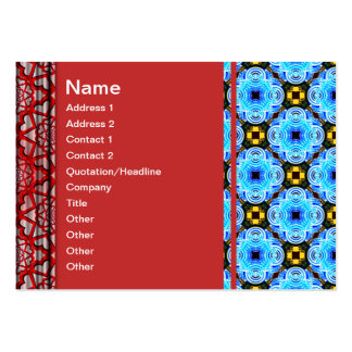 Neo Flower Pattern Small Inverted Business Card Template