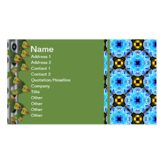 Neo Flower Pattern Small Inverted Business Card
