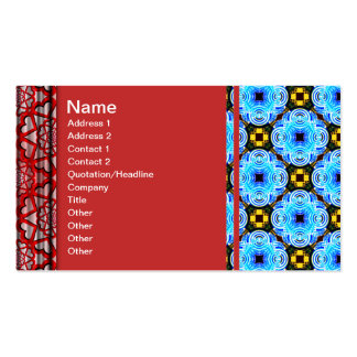 Neo Flower Pattern Small Inverted Business Card Templates