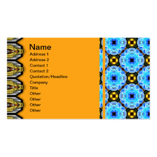 Neo Flower Pattern Small Inverted Business Cards
