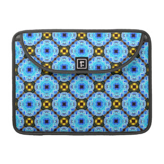 Neo Flower Pattern Small Inverted MacBook Pro Sleeves