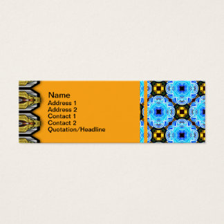 Neo Flower Pattern Small Inverted Mini Business Card