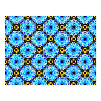 Neo Flower Pattern Small Inverted Postcard