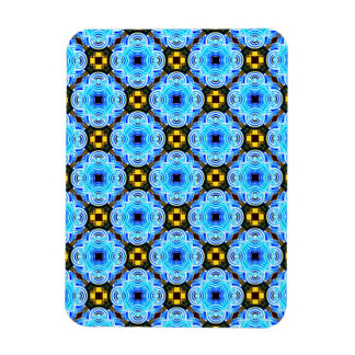 Neo Flower Pattern Small Inverted Rectangle Magnet