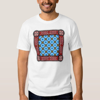 Neo Flower Pattern Small Inverted T-shirt