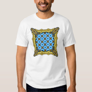 Neo Flower Pattern Small Inverted Tee Shirt