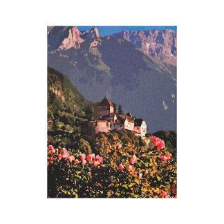 Neo impressionism Vaduz Castle Liechtenstein Canvas Print