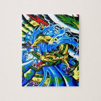 Neo Jap Dragon Tattoo Jigsaw Puzzle