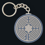 "Neo Medieval Labyrinth Keychain<br><div class=""desc"">An original labyrinth or maze done in the medieval style graces these products. Labyrinths have been used since ancient times for meditation and religious celebrations by many religions,  including pagan,  Chrisitian (both Catholic and Protestant),  and New Age.  Labyrinths are also associated with magic and spell casting,  including Wicca.</div>"