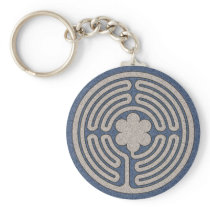 Neo Medieval Labyrinth Keychain