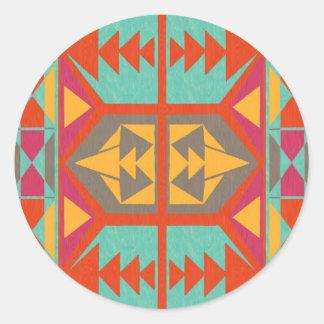 Neo Native Tribal Classic Round Sticker