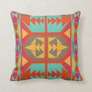 Neo Native Tribal Throw Pillow