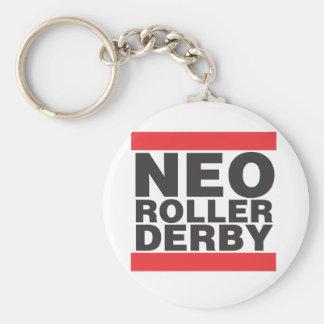 NEO Old School Basic Round Button Keychain