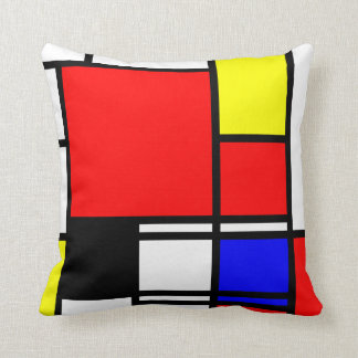Neo-plasticism Mondrian style 1 modern Throw Pillow