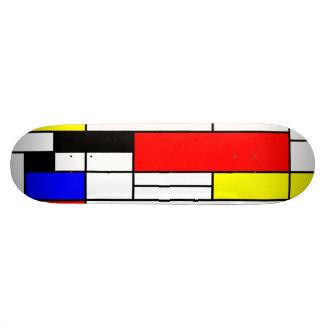 Neo-plasticism Mondrian style 1 Custom Skateboard