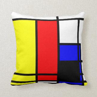 Neo-plasticism Mondrian style 2 modern Throw Pillow