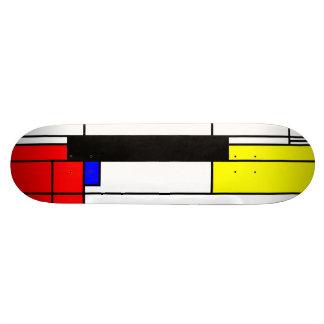 Neo-plasticism Mondrian style 2 Skateboard Deck