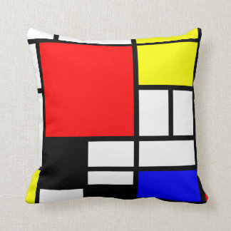 Neo-plasticism Mondrian style 3 modern Pillow
