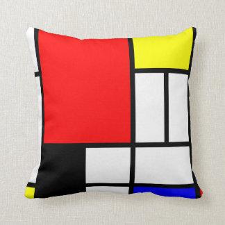 Neo-plasticism Mondrian style 3 modern Pillows