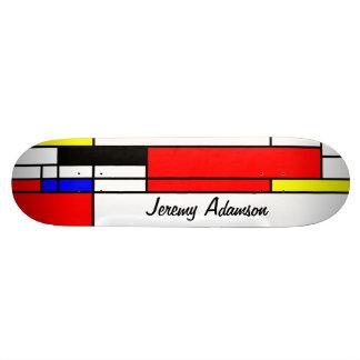 Neo-plasticism Mondrian style 3, your name Skateboard