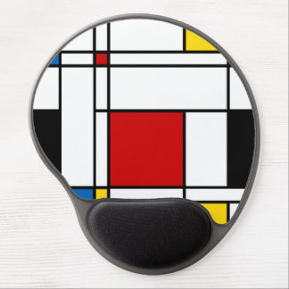 Neo-Plasticism Mondrian Style Gel Mouse Pad