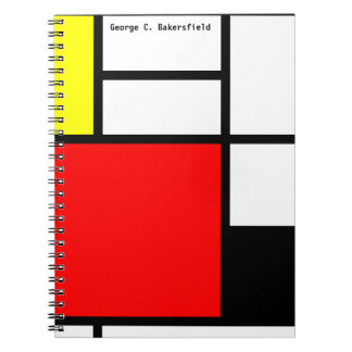 Neo-plasticism Mondrian style notebook