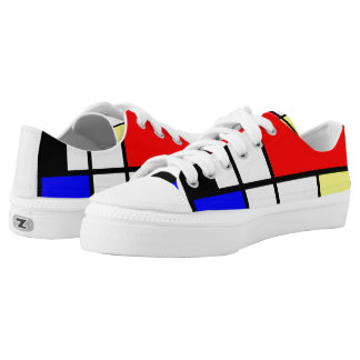 Neo-plasticism Mondrian style Printed Shoes