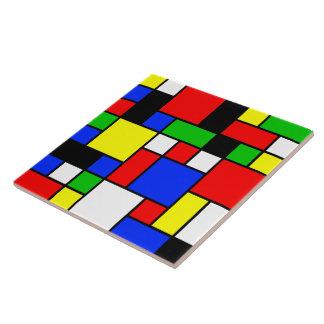 Neo-Plasticism No. 2 Art Tile
