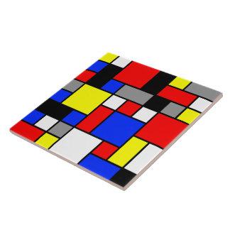 Neo-Plasticism No. 3 Art Tile