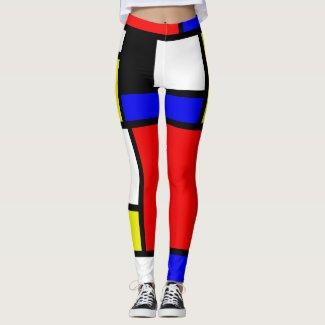 Neo-Plasticism Pictorial Art Athleisure Leggings