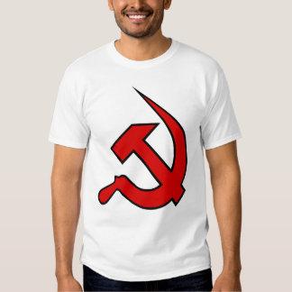 Neo Red & Black Hammer & Sickle on Men's Tee Shirt