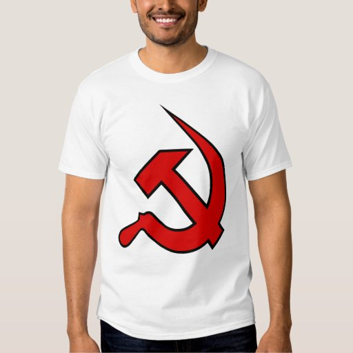 Neo Red & Black Hammer & Sickle on Men's Tee Shirts