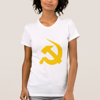 Neo-Thick Bright Yellow Hammer & Sickle on Women's Shirt