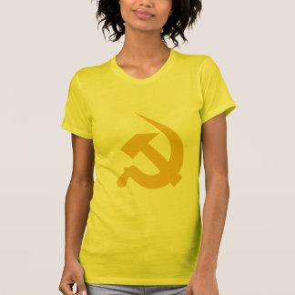 Neo-Thick Dark Yellow Hammer & Sickle on Women's T-shirt
