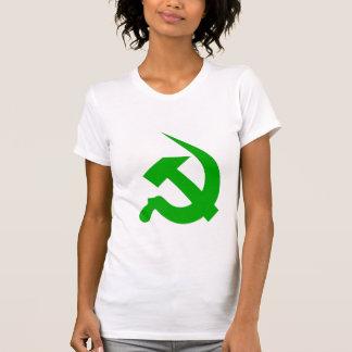 Neo-Thick Light Green Hammer & Sickle on Women's T-shirt
