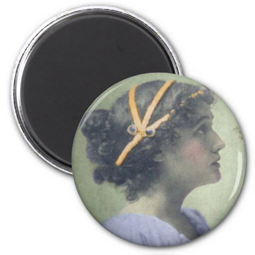 NeoClassical Girl 2 Inch Round Magnet