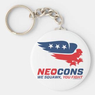 Neocon Chickenhawk Logo Basic Round Button Keychain