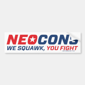 Neocon Chickenhawk Logo Bumper Sticker