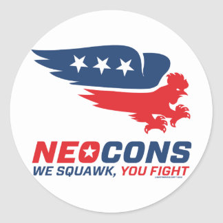 Neocon Chickenhawk Logo Classic Round Sticker