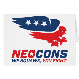 Neocon Chickenhawk Logo Greeting Card