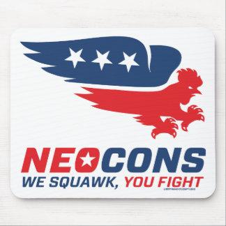 Neocon Chickenhawk Logo Mouse Pads