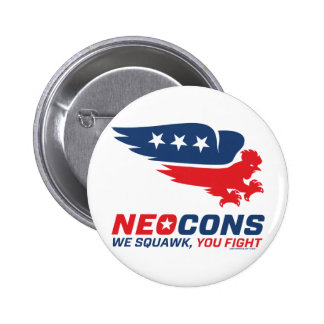 Neocon Chickenhawk Logo Pins