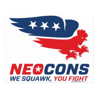 Neocon Chickenhawk Logo Postcard