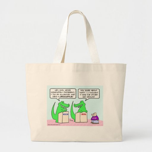 Neocons and Liberals are the same. Jumbo Tote Bag