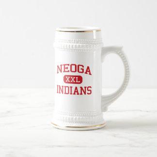 Neoga - indios - mayor - Neoga Illinois Jarra De Cerveza