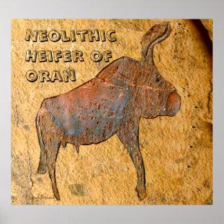 Neolithic Buffalo of Oran Poster