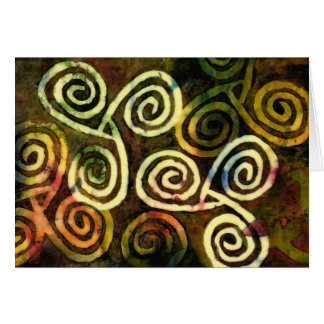 NeoLithic Cave Art Greeting Card