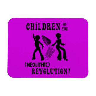 Neolithic Revolution Fridge Magnet